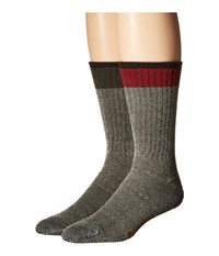 Timberland Tm31111 Wool Crew 2 Pair Pack Assorted 1 Men's Crew Cut Socks Shoes Multi