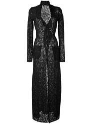 Roberto Cavalli Shimmer Long Dress Black