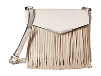 French Connection Lola Crossbody African Stone African Stone Suede Cross Body Handbags White
