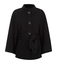 Harrods Of London Wool Cashmere Cape With Belt Female