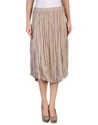 Guardaroba 3 4 Length Skirts Beige