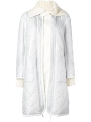 Sacai Quilted Parka White