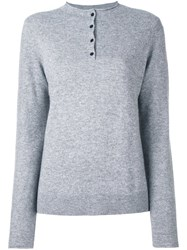 Rag And Bone Jean Buttoned Collar Jumper Grey