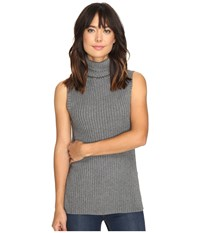 Kensie Cotton Blend Sweater Ks9u5537 Heather Steel Grey Women's Sweater Gray