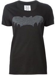 Zoe Karssen Bat Print T Shirt Black