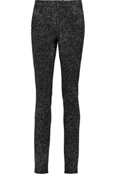 Proenza Schouler Printed Twill Mid Rise Skinny Jeans Black