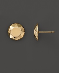 Bloomingdale's 14K Yellow Gold Faceted Dome Earrings No Color