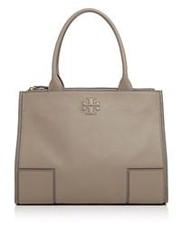 Tory Burch Ella Canvas And Leather Tote French Gray