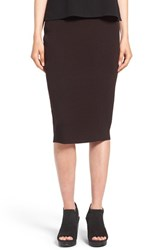 Eileen Fisher Women's Washable Wool Rib Tube Skirt Clove