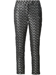 Strateas Carlucci Digital Zig Zag Print Trousers