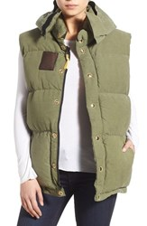 Women's Freecity 'Moonlux' Quilted Army Vest Army Green