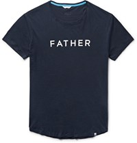 Orlebar Brown Father Slim Fit Printed Cotton Jersey T Shirt Blue