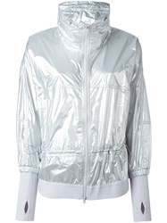 Adidas By Stella Mccartney Zipped Wind Breaker Metallic