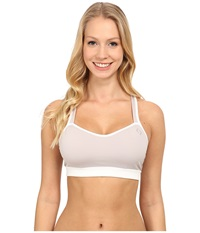 Moving Comfort Uprise Crossback A B Sterling White Women's Bra