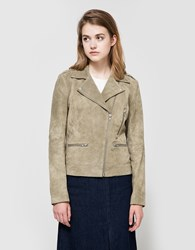 Just Female Direct Suede Jacket In Green