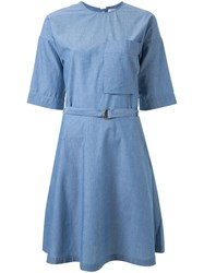 Maison Kitsune 'Jade' Chambray Dress Blue