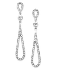 B. Brilliant Cubic Zirconia Teardrop Earrings In Sterling Silver