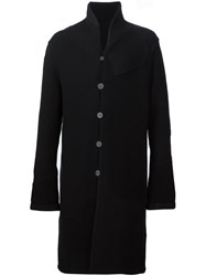 Label Under Construction Reversible Overcoat Black