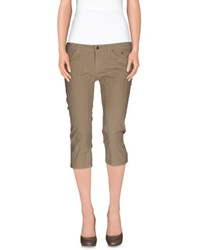 Jeckerson Trousers 3 4 Length Trousers Women Khaki