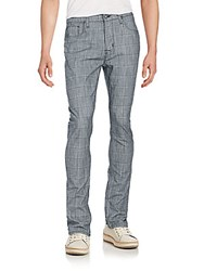Hudson Check Slouchy Skinny Jeans Commerce