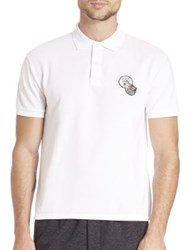 Ami Alexandre Mattiussi Short Sleeve Wolf Embroidery Polo Shirt White