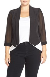 Plus Size Women's City Chic Chiffon Sleeve Crop Blazer