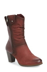 Tamaris Women's 'Vista' Slouchy Zip Bootie Bordeaux Leather