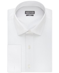 Kenneth Cole Reaction Slim Fit Solid French Cuff Shirt White