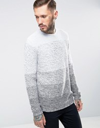 Only And Sons Ombre Knitted Jumper Grey