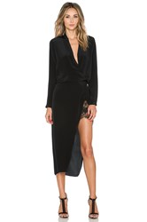 Mason By Michelle Mason Longsleeve Wrap Dress Black