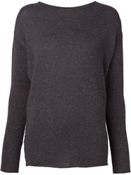 Transit Boat Neck Sweater Grey