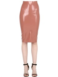 Atsuko Kudo Crystal Latex Pencil Skirt