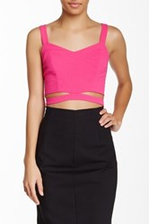 Blvd Sleeveless Cutout Tank Pink