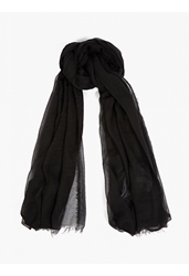 Drkshdw Men's Black Raw Edged Scarf