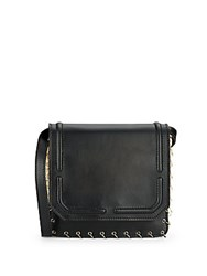 Dannijo Lypton Chain And Faux Pearl Detail Leather Crossbody Bag Nero