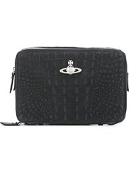 Vivienne Westwood Crocodile Effect Clutch Black