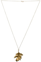 Philippa Holland Gold Leaf Necklace