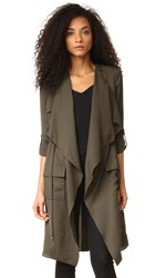 Haute Hippie Flare Trench Coat Military