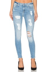 7 For All Mankind The Sequin Destroy Ankle Skinny Light Blue
