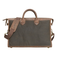 Barbour Waxed Belsay Briefcase Brown