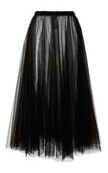 Rochas Layered Tulle A Line Skirt Black