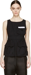 Marc By Marc Jacobs Black Summer Cotton Apron Tank Top