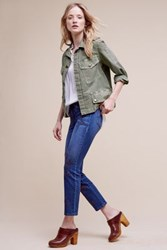 Anthropologie Level 99 Allie Mid Rise Crop Jeans Tinted Denim