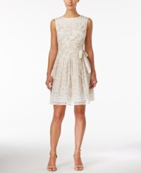 Styleandco. Style And Co. White Lace Tie Sash A Line Dress Only At Macy's Ivory