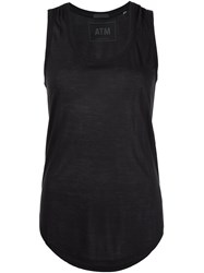 Atm Anthony Thomas Melillo Scoop Neck Tank Top Black