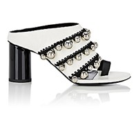 Proenza Schouler Women's Crochet And Bead Embellished Mules No Color