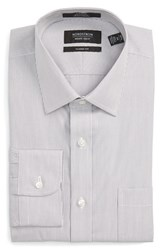 Nordstrom Men's Men's Shop Classic Fit Non Iron Stripe Dress Shirt Grey Filigree