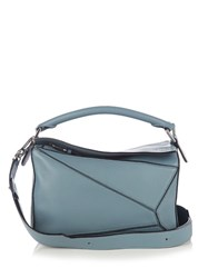 Loewe Puzzle Small Leather Cross Body Bag Light Blue