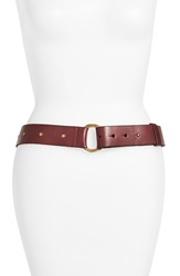 Lucky Brand Hammered Stud Leather Belt Burgundy