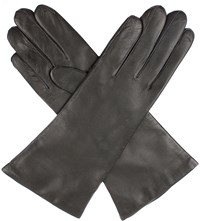 Dents Helene Cashmere Lined Leather Gloves Charcoal